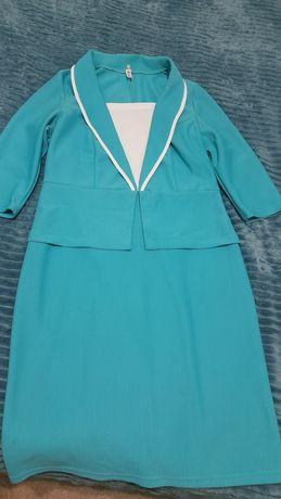 Продам платье с баской 48 размер.