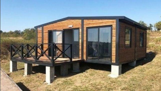 Case modulare pe structura din metal