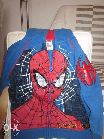 Bluza cu gluga baieti SPIDERMAN,4-6 ANI