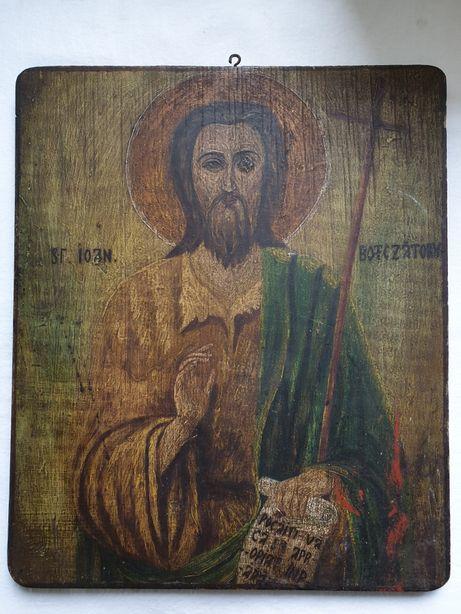 Icoana veche pe lemn, Sf Ioan Botezatorul, sec XIX