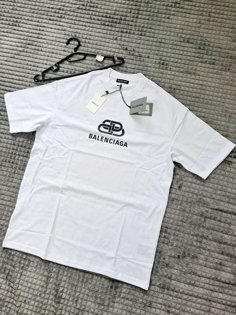 Tricou Balenciaga BB-Logo White, Oversize, Premium