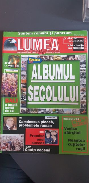 "Vand revista ""Lumea Magazin"" global politics and world events"