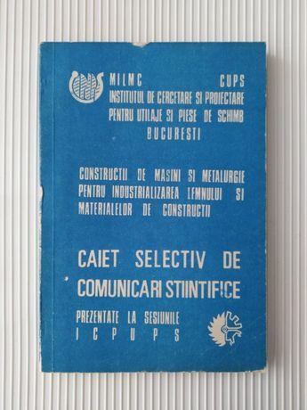 Constructii de masini si metalurgie pentru ind. lemnului 1985