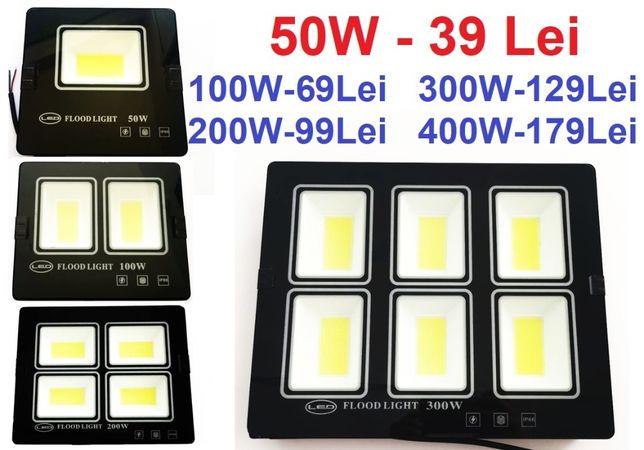 Proiector LED 50w 100w 200w 300w 400w Slim pentru exterior