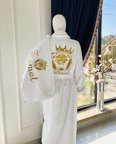 Подарка, вышывка , халат, полотенцы именной подарка
