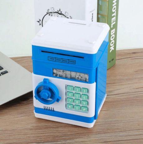 Детская копилка сейф | электронная с кодовым замком и купюр приемником