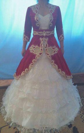 Продам или сдам в аренду национальное свадебное платье с саукеле