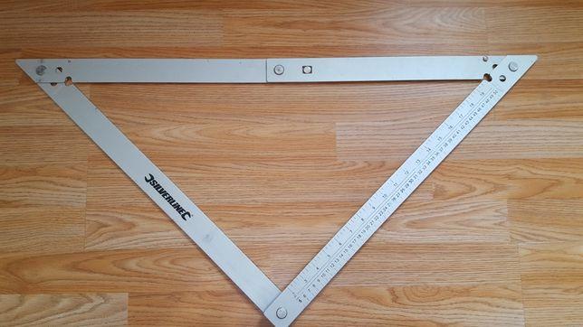 Echer aluminiu 595-595-840mm.Silverline