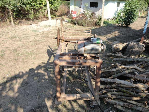 машина за рязане на дърва
