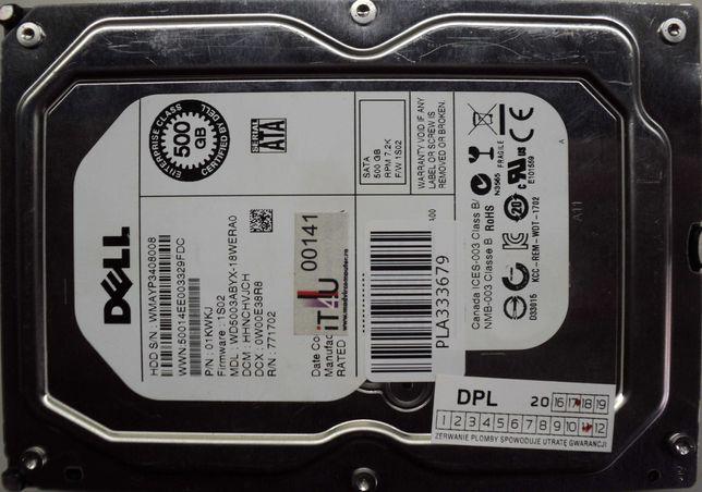 """Hard Disk-HDD Sata 3,5"""" HDD-500 Gb DELL WD50003ABYX-18WERA0"""