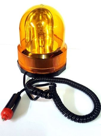 Girofar auto 12V galben cu suport magnetic