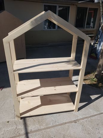 Mobilier lemn ,patuturi copii stil casuta , loc joaca pisicute