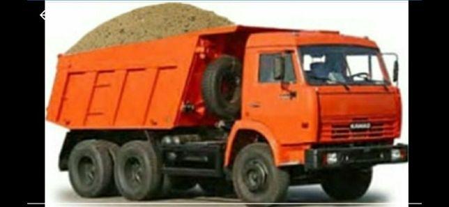 Баласт, песок,  отсев, щебень скальник  с доставкой.