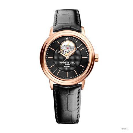 Мъжки часовник Raymond Weil Maestro Automatic Black Dial Rose Gold PVD