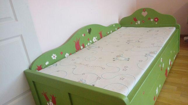 Vand pat de lemn pictat unicat