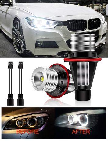НОВИ! Angel Eyes LED Крушки BMW E39 E60 X3 X5 ЛЕД E61 E65 Ангелски Очи
