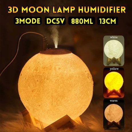 3D Арома дифузер,овлажнител и лампа – Луна ароматизатор