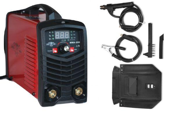 Инверторен електрожен ММА 200А - електроди 1 мм до 4 мм - 1 година гар