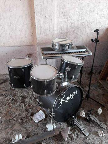 Синтезатор, барабан музыкальный