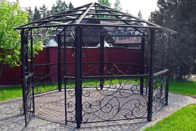 Кованые ворота, решетки на окна, железная дверь, забор