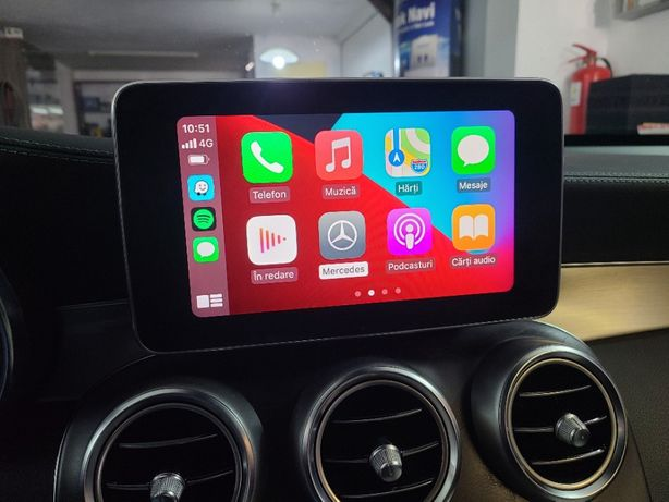 Apple Carplay Mercedes C-Class W205 GLC V-Class AndroidAuto Waze GPS