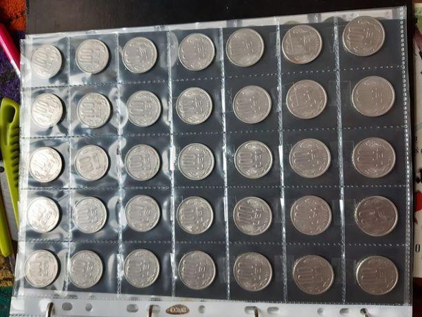 set de 5 folii pentru monede diametrul max 38 mm