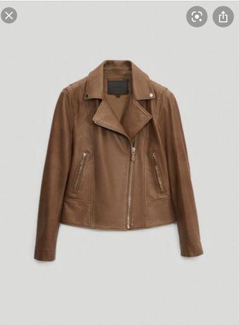 massimo dutti baker leather jacket кожаная куртка