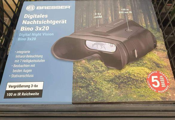 Уред за нощно и дневно виждане Bresser 6х zoom-Нов
