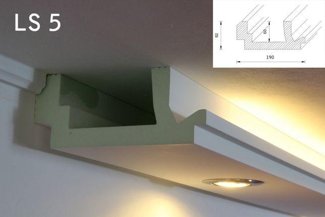 SCAFA BANDA LED, scafe decorative polistiren,scafa tavan nu rigips LS5
