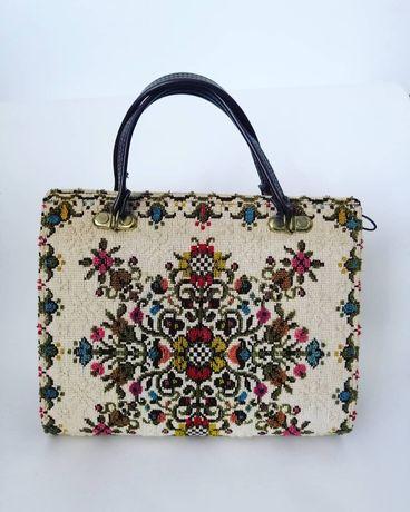 Geanta vintage tapiterie / tapiserie