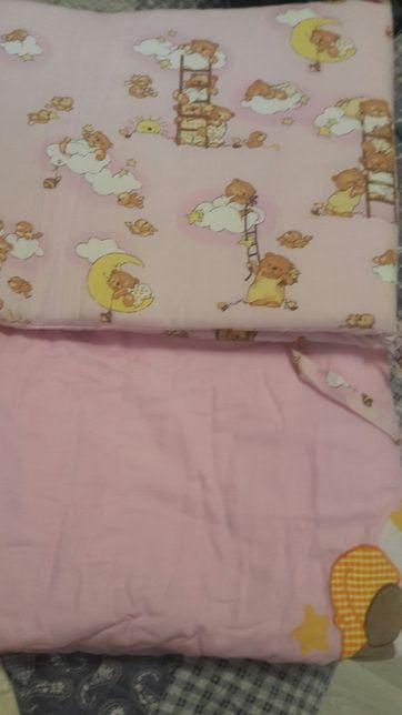Бортик и одеяло для детской кровати