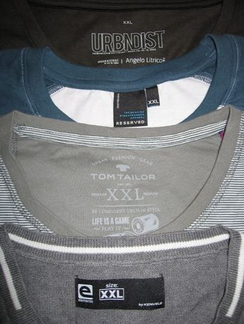 NOI barbati 1Tshirt+2bluze+1pulover XXL C&A,Reserved,TomTailor,Kenvelo