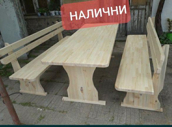 Баварски маси/маси с пейки