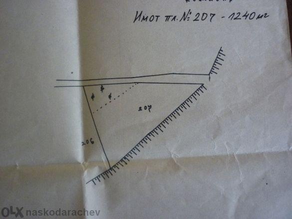 Атрактивен парцел 1,24 дка във вилна зона Ляската, Айтос