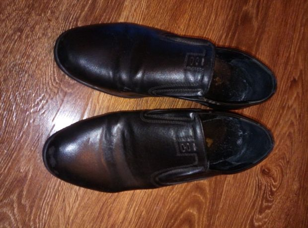 Туфли кожаные подростку 40 рр