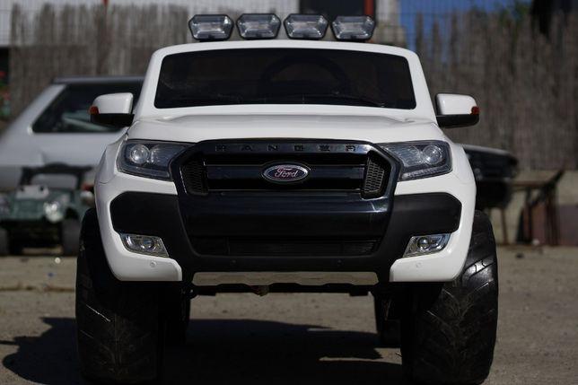 Masinuta electrica pentru 2 copii Ford Ranger 4x4 cu Bluetooth #Alb