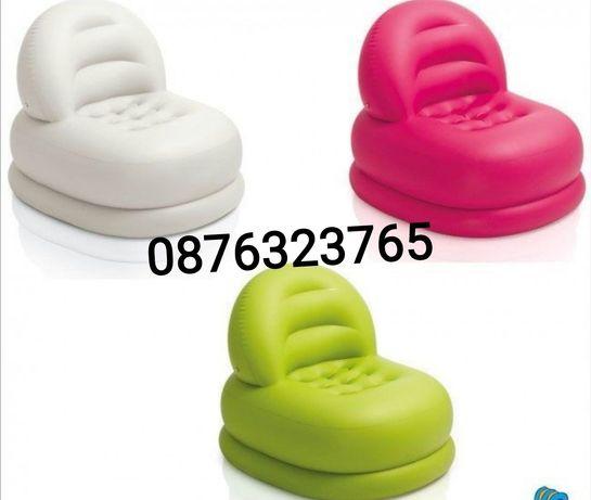Надуваем надуваеми фотьойл фотьойли кресло Intex Интех