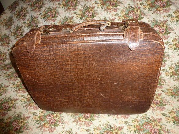 Индийски куфар от естествена кожа