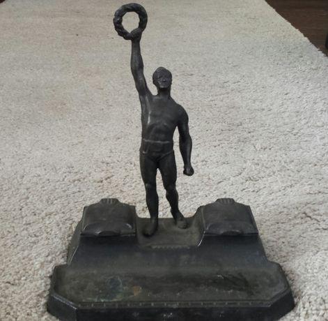 Настолна метална мастилница(писалище) 30-те г. с Олимпиец