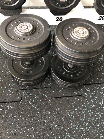 Vand doua perechi de gantere Atlas Sport rotunde 25 si 30 kg