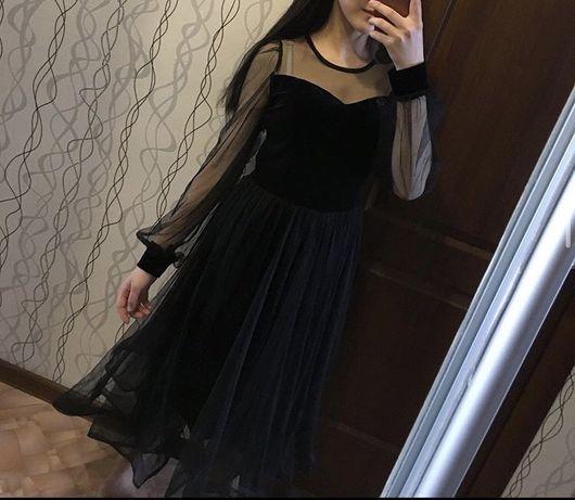 Черное женское  платье