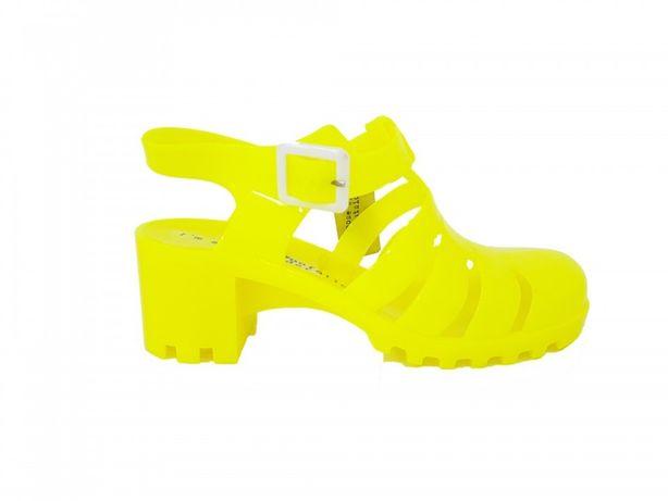 Sandale dama, OUTSIDER, culoare galben fluorescent, marimi 36-40