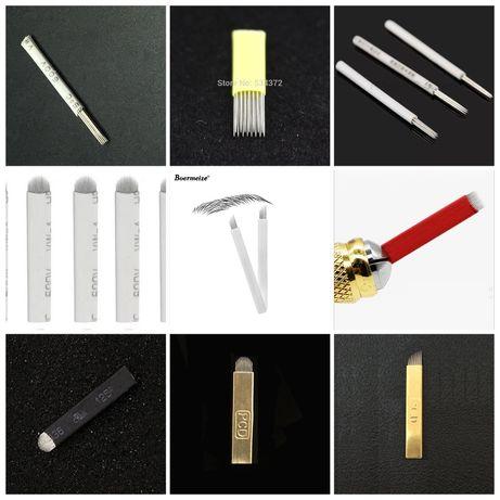 Ножчета-игли за Микроблейдинг Калипер Линия Кожа Молив Писалки