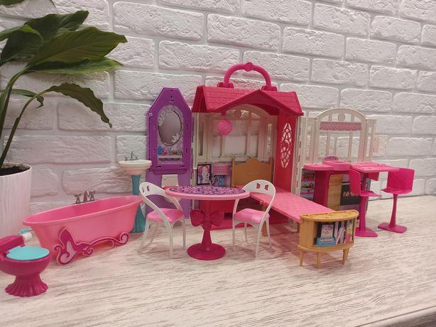 Домик для Barbie + гостиная+ ванная комната