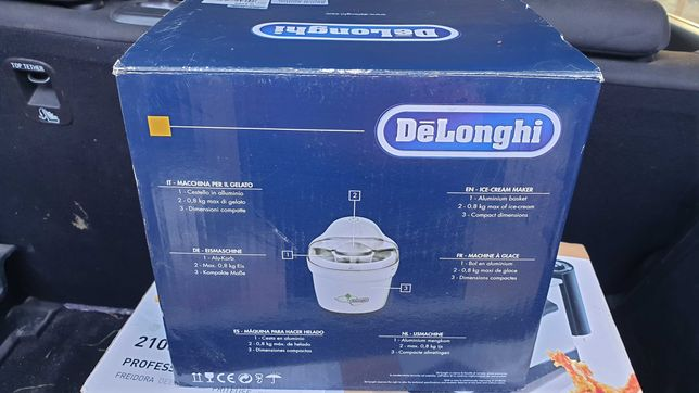 Masina de inghetata DeLonghi IC 8500, Noua, Sigilata