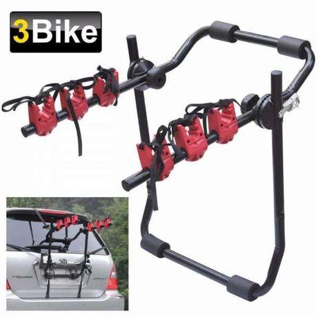 Автомобилен Багажник за 3 Велосипеда Стойка Велосипеди Колела Колело