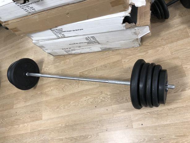 Bara piept+Discuri, Haltera piept greutate 140 kg, noi pret 1700 ron