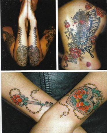 Carte album despre istoria tatuajului feminin, tattoo, in limba romana