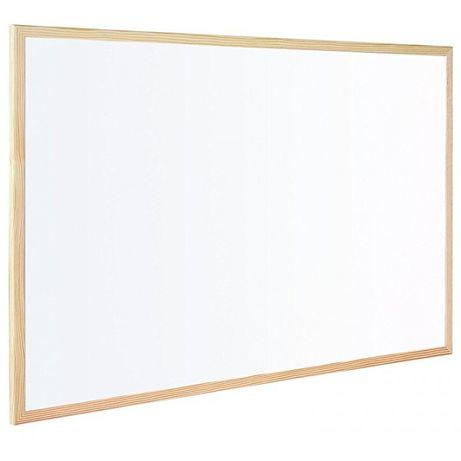 Бяла дъска, дървена рамка 60х90 см