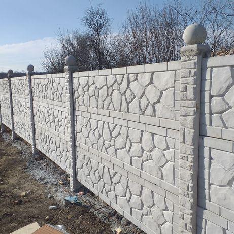 Garduri beton 125m liniar